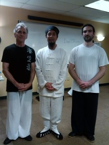 Master Chen (center) Michael Issa (right) Mike on left